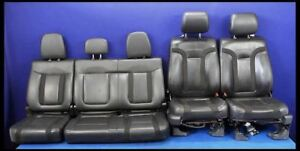 2011 2014 Ford F150 Raptor Truck Black Leather Seat Oem Factory 40 20 40