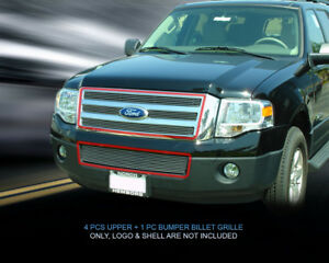 Fits 2007 2014 Ford Expedition Billet Grille Front Combo Grill