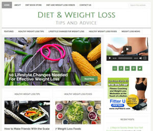 new Diet Weight Loss Website Business For Sale W Daily Auto Updates