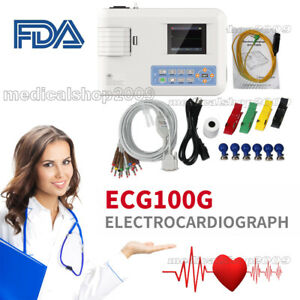New Contec Portable Ecg Machine Ekg Monitor Electrocardiograph Printer Ecg100g