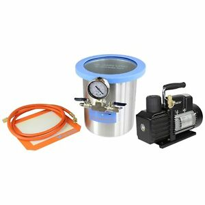 Best Value Vacs Glassvac 1 5 Gallon Tall Stainless Steel Vacuum Chamber And