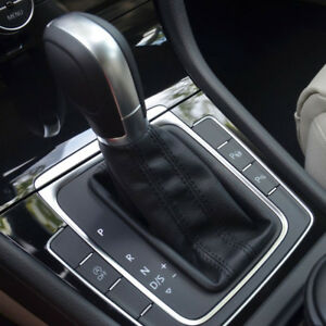 Knob Shift Gear At Dsg Leather For Vw Golf Mk7 5gg 713 203c Lever Cover