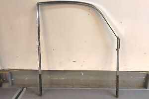 Used Original Porsche 356 356a Passengers Right Side Door Chrome Window Frame 2