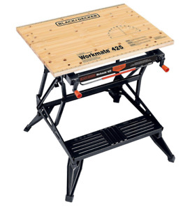 Black & Decker Workmate 550-Lb Portable Workbench Steel Frame Table w Vise