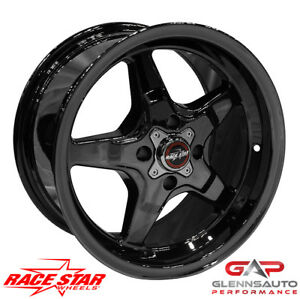 Race Star 15x8 91 580030bc 1979 1993 Mustang 4 Lug 91 Drag Star Black Chrome