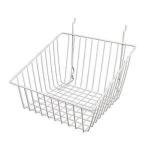 Only Hangers White Tapered Slatwall gridwall Basket 12 X 12 X 8 6pk