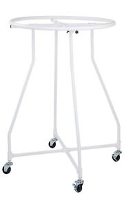 Boutique White Pipe Round Clothing Rack 48 h X 36 Diameter