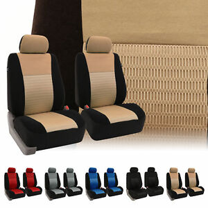 Bucket Seat Covers Pair For Car Auto Suv Van Truck 5 Colors Universal Fit