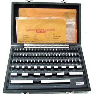 Hfs r 81pcs Grade B Gage Gauge Block Set Usa Cert Nist Traceable New