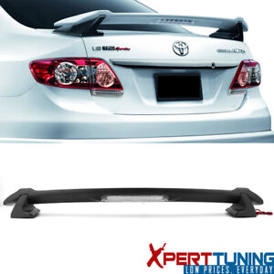 Fits 09 13 Toyota Corolla Sedan Sportive Trunk Spoiler Led 3rd Brake