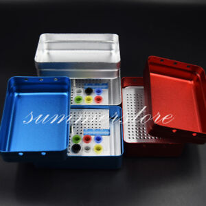 Dental 180 Holes Endo File Point Burs Holder Autoclave Disinfection Stand ruler