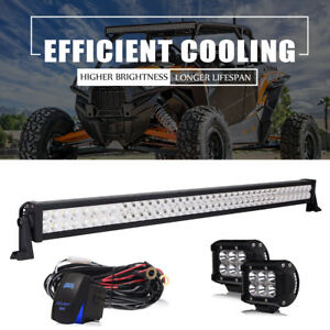 For Can am Maverick commander 1000 800 42 40 Led Light Bar Wiring W Switch