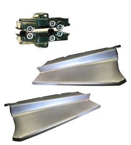 1942 1946 1947 Ford Pickup Truck 1 2 Ton Steel Running Board Set Pair