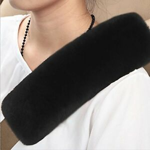 Mowang Authentic Sheepskin Car Seat Belt Cover 1 Pack Soft Shoulder Pad Merino