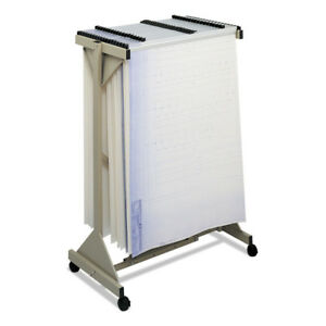 Safco Mobile Plan Center Sheet Rack 18 Hanging Clamps Sand 5060 New