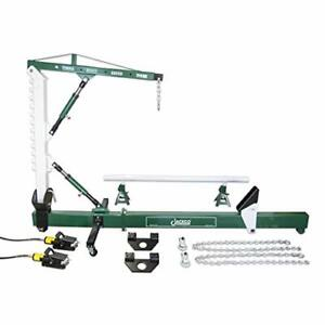 10 Ton Auto Body Frame Repair Straightener With Crane Swivel Post 2 Air Pumps