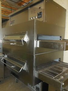 Middleby Marshall 360 350 Double Stack Pizza Conveyor Ovens Natural Gas Tested