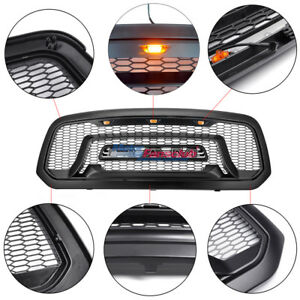 Black Honeycomb 2013 18 For Dodge Ram 1500 Grille Bumper Grill Mesh Rebel Style