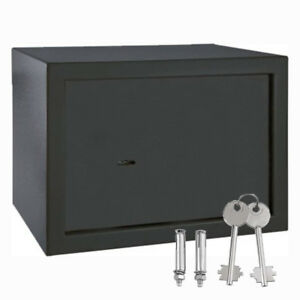 8 5l Steel Home Key Security Money Cash Hidden Wall floor Safe Box W Key Lock