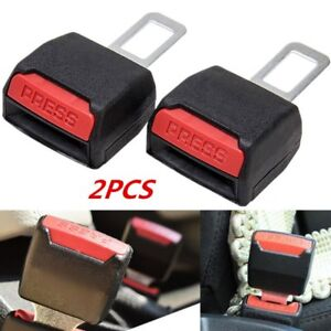 2pcs Universal Car Tucker Safety Seat Belt Clip Buckle Extender Alarm Stopper