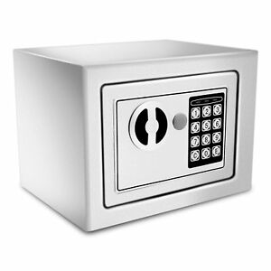 Electronic Safe Security Box Gun Money Passport Wall Cabinet Home Hotel Office