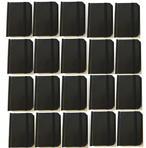 Bulk Lot 20 Small Black Hardcover Pocket Notebook Journals 96 Pages 4 5x3 Ruled