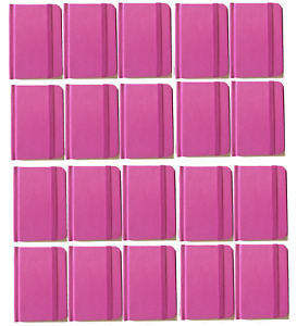 Bulk Lot 20 Small Pink Hardcover Pocket Notebook Journals 96 Pages 4 5x3 Ruled