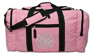 Lightning X Value Firefighter Turnout Gear Bag W Maltese Cross Pink