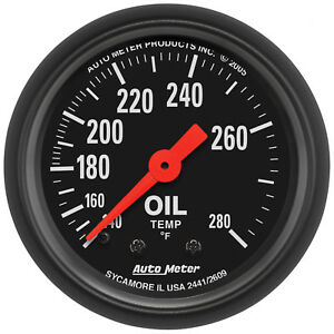 Autometer 2609 Z series 2 1 16 Oil Temperature 140 280 Degree Mechanical