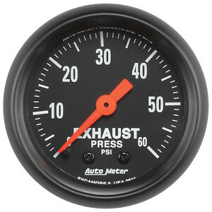 Autometer 2611 Z Series 2 1 16 Exhaust Pressure 0 60 Psi Mechanical