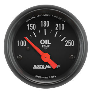 Autometer 2638 Z series 2 1 16 Oil Temp 100 250 Degree Electrical