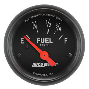 Autometer 2642 Z Series 2 1 16 Fuel Level 73 10 Ohm Electrical