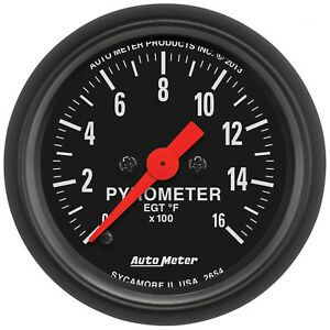 Autometer 2654 Z Series 2 1 16 Pyrometer 0 1600 Degree Electrical