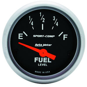 Autometer 3317 Sport Comp 2 1 16 Fuel Level 0 30 Ohms Electrical
