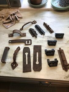 Lot Vintage Antique Hardware Gate Barn Door Architectural Salvage