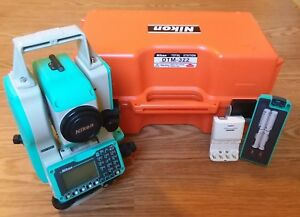 Nikon Dtm 322 Total Station Perfect Unused Condition Tested