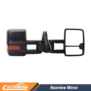 Pair Power heated led Signal Towing Mirrors For 2003 2006 Chevy Silverado Sierra