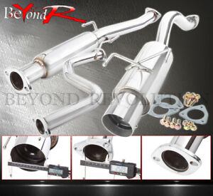 For 96 00 Honda Civic Hatchback N1 Style 2 5 Catback Exhaust Muffler System Tip