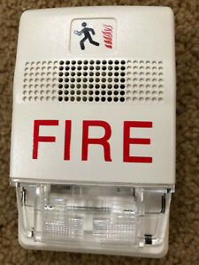 New Est G1f cvm Genesis White Fire Alarm Chime strobe 15 110 Multi cd