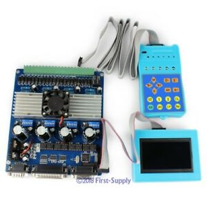 New 4 Axis Cnc Stepper Motor Driver Tb6560 Set Lcd Display Handle Controller