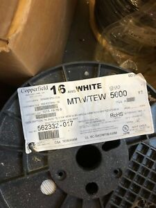 Wire Copperfield Mtw 16 Awg Stranded White 3000 Spool