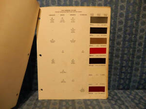 1964 Chrysler Dodge Plymouth Imperial Original Paint Color Chip Chart 8 Pages