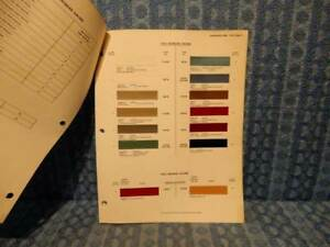 1963 Studebaker Avanti Truck Original Paint Color Chip Chart 3 Pages