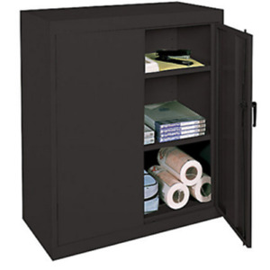 Realspace 42 Steel Storage Cabinet With 2 Adjustable Shelves 42 h X 36 w X 18