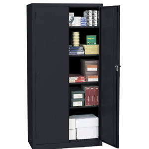 Realspace 72 Steel Storage Cabinet With 4 Adjustable Shelves 72 h X 36 w X 18