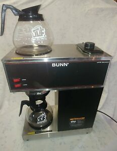 Bunn Commercial Coffee Maker Vpr Black Series two Hot Plate warmers 2 Decanters