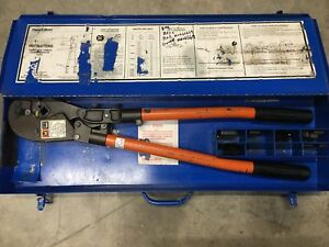 T b Thomas Betts Tbm8s Wire Cable Crimper With Dies Case