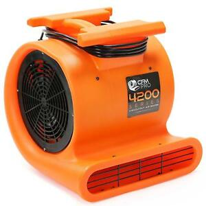 Cfm Pro Air Mover Carpet Floor Dryer 3 Speed 1 Hp Blower Fan Stackable