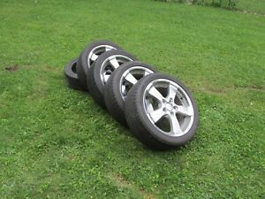 4 Low Profile Rox Rims With 3 Kumho And 2 Michelin Used Tires 225 45r 18