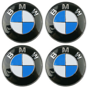 A Set Of 4 Bmw Emblem Logo Badge Hub Wheel Rim Center Cap 60mm Fit 1 3 5 7 Z3 Z4